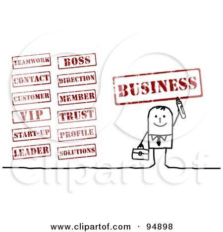 Free Clip Art Business Stamps in Years for Businesses