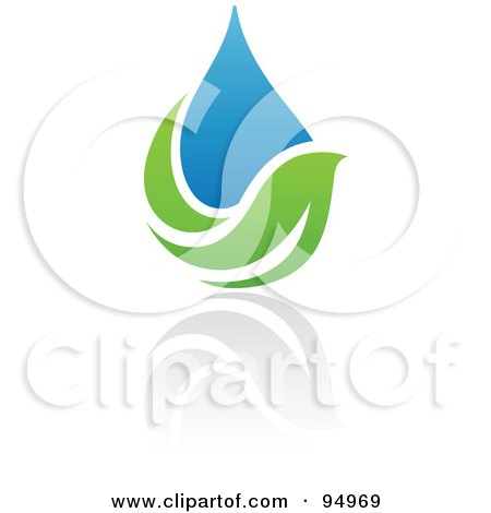 Royalty-Free (RF) Clipart Illustration of a Blue And Green Organic And Ecology Water Drop Logo Design Or App Icon - 8 by elena
