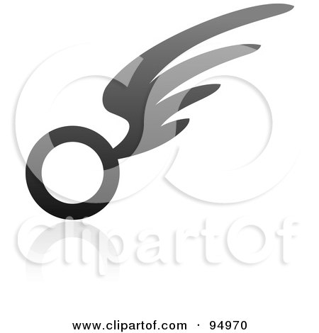 Royalty-Free (RF) Clipart Illustration of a Black And Gray Wing Logo Design Or App Icon - 13 by elena