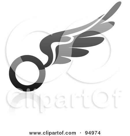 Royalty-Free (RF) Clipart Illustration of a Black And Gray Wing Logo Design Or App Icon - 14 by elena