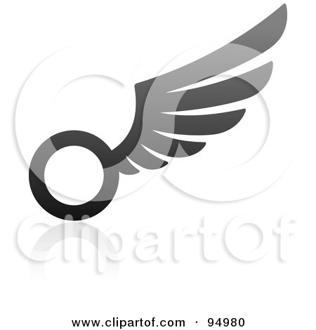 Royalty-Free (RF) Clipart Illustration of a Black And Gray Wing Logo Design Or App Icon - 15 by elena