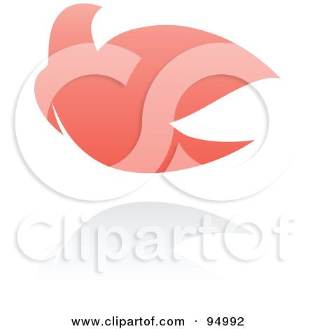 Royalty-Free (RF) Clipart Illustration of a Pink Dove Logo Design Or App Icon - 3 by elena