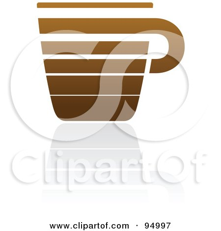 Royalty-Free (RF) Clipart Illustration of a Brown Horizontal Lined Coffee Logo Design Or App Icon - 4 by elena