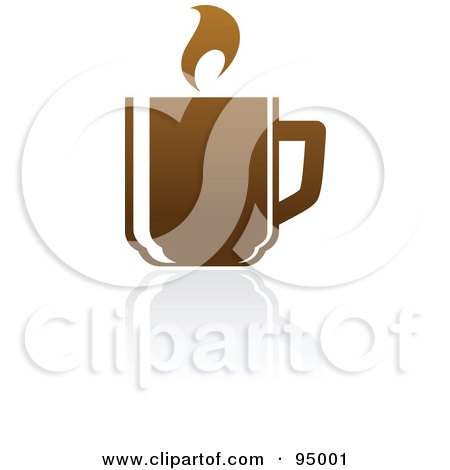 Royalty-Free (RF) Clipart Illustration of a Brown Coffee Logo Design Or App Icon - 2 by elena