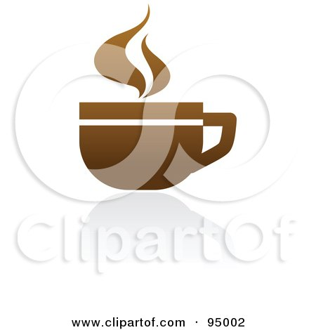 Royalty-Free (RF) Clipart Illustration of a Brown Coffee Logo Design Or App Icon - 1 by elena