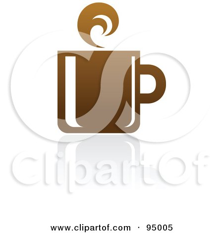 Royalty-Free (RF) Clipart Illustration of a Brown Coffee Logo Design Or App Icon - 4 by elena