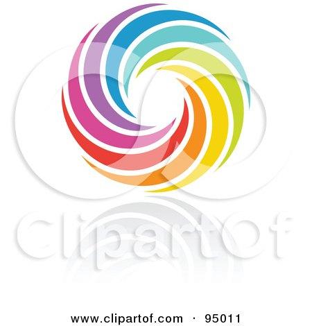 Royalty-Free (RF) Clipart Illustration of a Rainbow Circle Logo ...