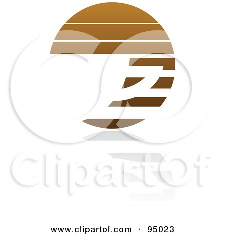 Royalty-Free (RF) Clipart Illustration of a Brown Horizontal Lined Coffee Logo Design Or App Icon - 1 by elena