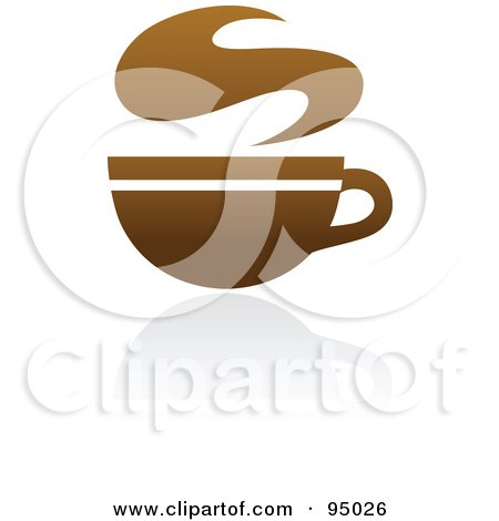 Royalty-Free (RF) Clipart Illustration of a Brown Coffee Logo Design Or App Icon - 3 by elena