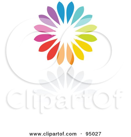 Royalty-Free (RF) Clipart Illustration of a Rainbow Circle Logo Design Or App Icon - 11 by elena