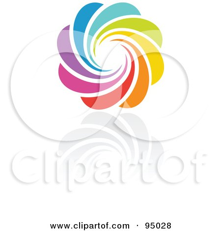 Royalty-Free (RF) Clipart Illustration of a Rainbow Circle Logo Design Or App Icon - 4 by elena