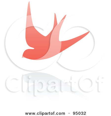 Royalty-Free (RF) Clipart Illustration of a Pink Swallow Logo Design Or App Icon - 3 by elena