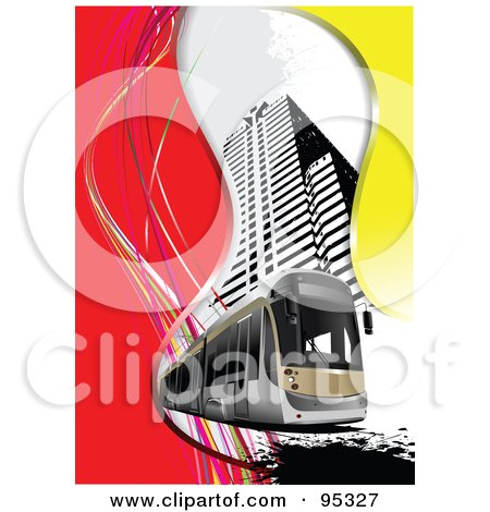 Royalty-Free (RF) Clipart Illustration of a City Tram - 1 by leonid