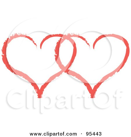 Royalty-Free (RF) Clipart Illustration of a Red Heart Outline Design - 9 by Andy Nortnik