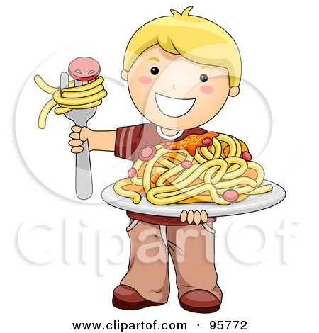 Royalty-Free (RF) Spaghetti Clipart, Illustrations, Vector Graphics #1