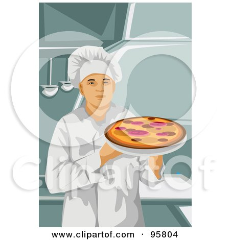 Royalty-Free (RF) Clipart Illustration of a Male Professional Chef - 7 by mayawizard101