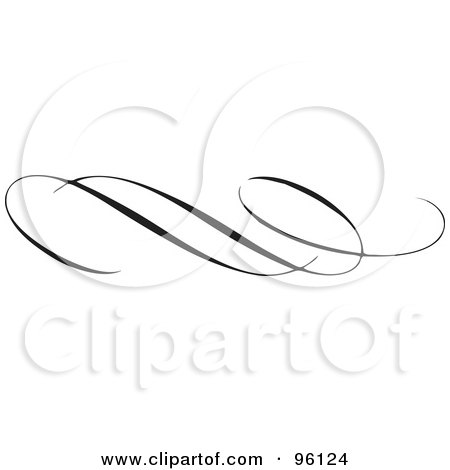 Royalty-Free (RF) Clipart Illustration of a Black Elegant Border Design Element - Version 2 by BestVector