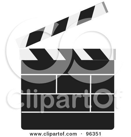 Royalty-Free (RF) Clipart Illustration of a Plain Cinemar Clapper Board by Rasmussen Images