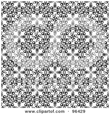 Black And White Flower Print Background Black And White Background of