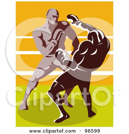 Royalty-Free (RF) Clipart Illustration of Boxers In A Ring - 36 by patrimonio