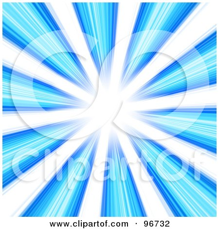 Royalty-Free (RF) Clipart Illustration of a Background Of Shining Blue Light In A Vortex, Over White by Arena Creative