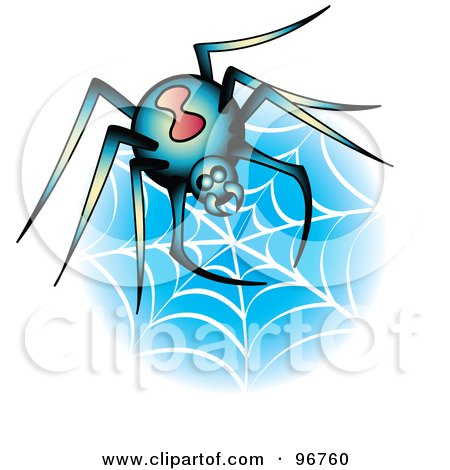 Black Spider Tattoo Design for Younger Girls