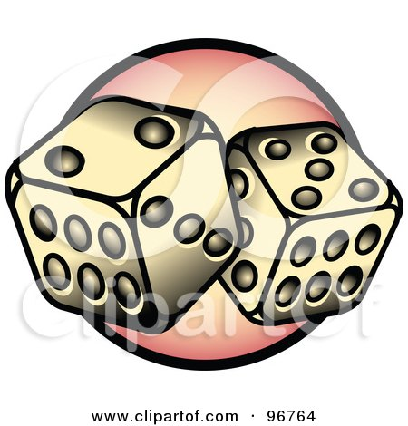 Dice With 7 Tattoo Design