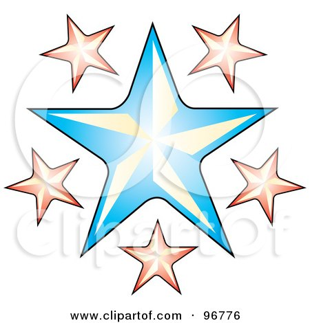 Royalty-free clipart picture of a tattoo design of pink stars