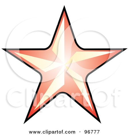 free star tattoo design. a Red Star Tattoo Design