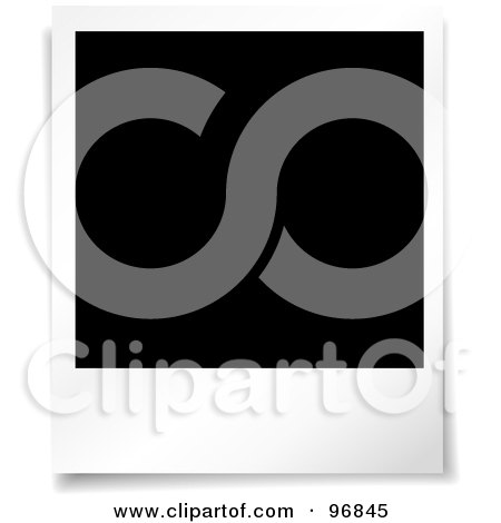 Royalty-Free (RF) Clipart Illustration of a Clean, Unused Polaroid Picture by KJ Pargeter