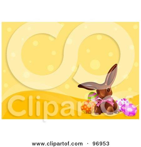 chocolate easter bunnies cartoon. a Chocolate Easter Bunny