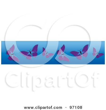 Royalty-Free (RF) Butt...Clipart Flowers And Butterflies Border