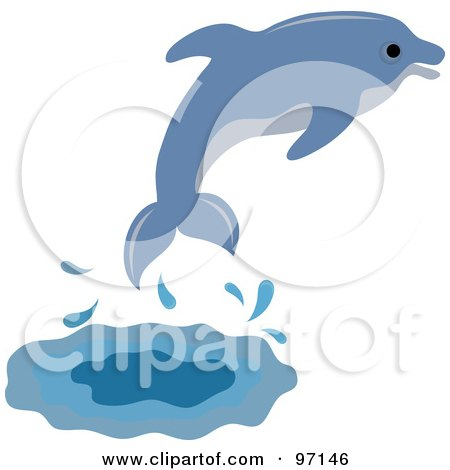Dolphins jumping out of water clipart - photo#16
