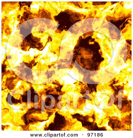 Royalty-Free (RF) Clipart Illustration of a Fiery Flames Background by Michael Schmeling