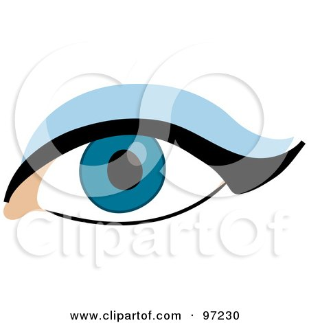 Royalty-Free (RF) Clipart Illustration of a Woman's Dark Blue Eye ...