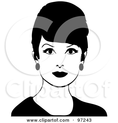 Royalty-Free (RF) Clipart Illustration of a 60s Styled ...