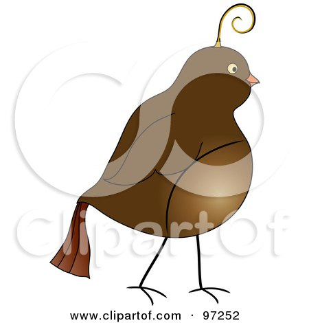 Royalty-Free (RF) Clipart Illustration of a Profile Of A Brown Partridge by Pams Clipart