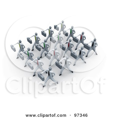 Royalty-Free (RF) Clipart Illustration of 3d Business People Doing Training Together In A Group by 3poD