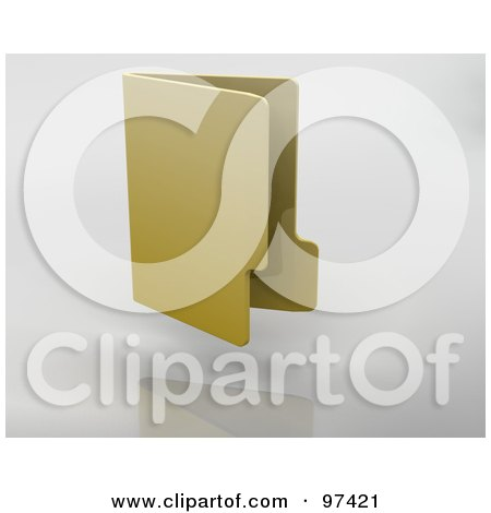 Royalty-Free (RF) Clipart Illustration of a 3d Vertical Office Folder On A Gray Background by KJ Pargeter