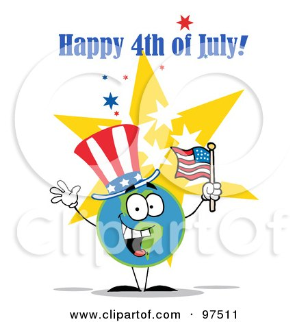 happy fourth of july clip art. Royalty-Free (RF) Clipart