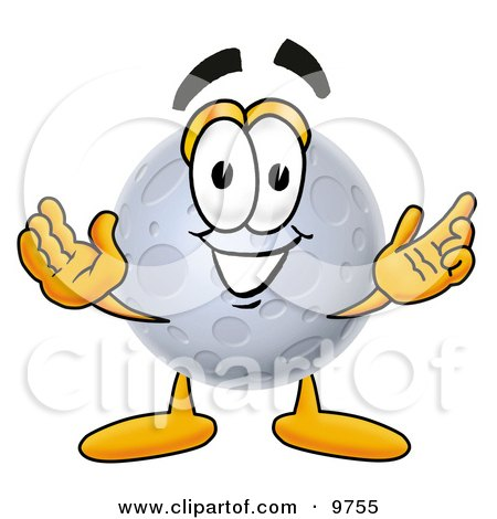 Clipart Picture of a Moon Mascot Cartoon Character With Welcoming Open Arms by Toons4Biz