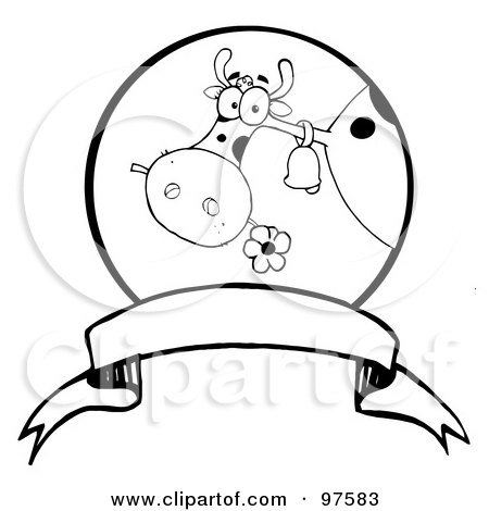 Royalty Free Rf Clipart Illustration Of A Black And White Dairy