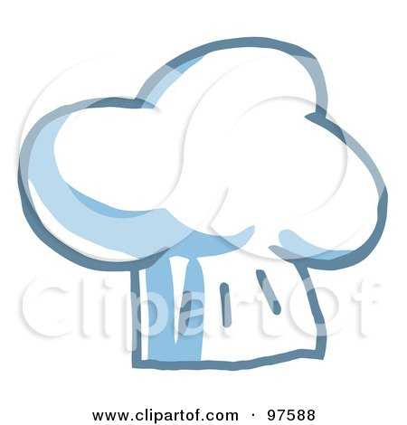 Royalty-Free (RF) Clipart Illustration of a Fluffy Chef Hat by Hit Toon