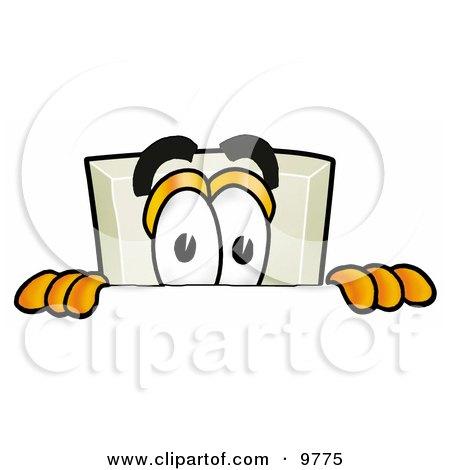 Light Switch Mascot Cartoon Character Peeking Over a Surface Posters, Art Prints