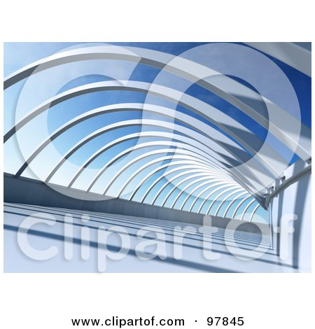 Royalty-Free (RF) Clipart Illustration of 3d Abstract Beams Of A Structure by Mopic