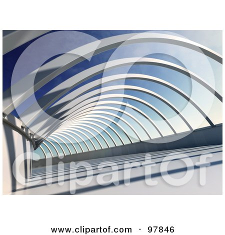 Royalty-Free (RF) Clipart Illustration of 3d Abstract Beams Of A Building by Mopic