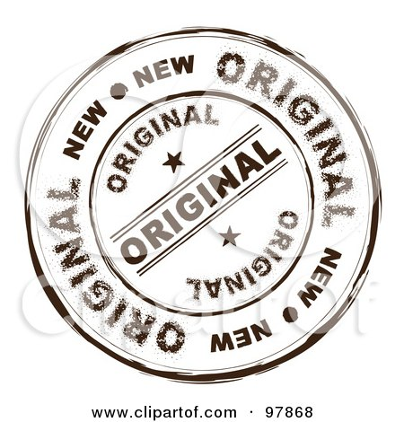 Royalty-Free (RF) Clip Art Illustration of a Round Distressed Original Ink Stamp by michaeltravers