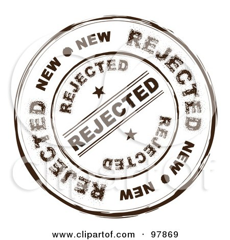 Royalty-Free (RF) Clipart Illustration of a Round Distressed Rejected Ink Stamp by michaeltravers