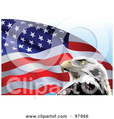 american flag background with eagle. American Flag And Eagle