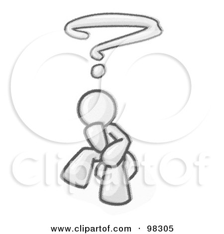 Royalty Free Rf Clipart Illustration Of A Sketched Design Mascot